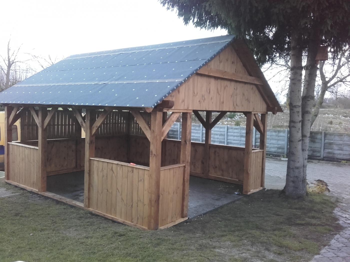 Altana Ogrodowa 2 Domy Szkieletowe Drewniane Altany