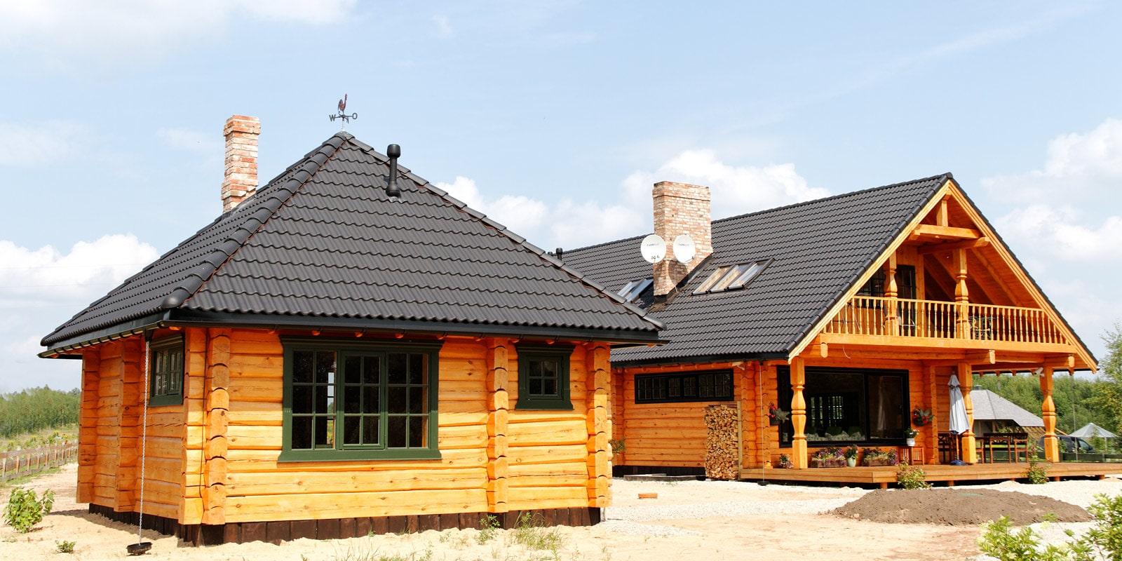 Domy szkieletowe drewniane - przykłady
